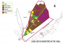 Land use in Sandford in the 1840s