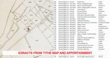 Extracts from Tithe map and apportionments